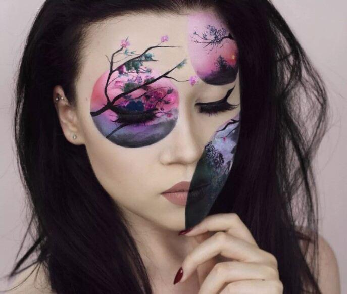 Креативный макияж инстаграм.