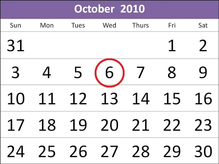 Октябрь 2010 года
