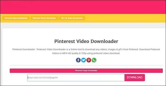 Free Online Pinterest Video Downloader.