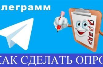 Как сделать опрос в Телеграмме